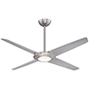This item: Pancake XL Brushed Nickel 62-Inch LED Ceiling Fan