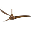 This item: Wave 52-Inch Ceiling Fan with Three Blades in Distressed Koa Finish