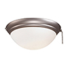This item: Brushed Steel One Light Ceiling Fan Light Kit