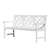 This item: Bradley Eco-friendly 5-foot Outdoor White Wood Garden Bench