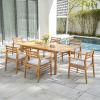 This item: Gloucester Natural Wood Seven-Piece Patio Dining Set