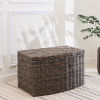 This item: Valeria Gray Brown 24-Inch Storage Bin with Attached Lid and Handles