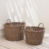 This item: Mila Mocha Storage and Organizing Basket Set with Handles, Set of 2