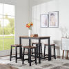 This item: Brighton Mocha Counter Height Five-Piece Dining Set
