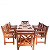 This item: Malibu Outdoor 7-piece Wood Patio Dining Set