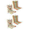 This item: Covert Stripe Breeze and Valeda Breeze 21 x 38 Inches Reversible Outdoor Chair Cushion, Set of Two