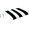 This item: Cabana Stripe Black Outdoor Monoblock Seat Cushion