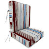 This item: Bacall Stripe Berry Outdoor Chair Cushion