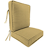 This item: Dupione Stripe Bamboo 2-Piece Attached Deep Seat Cushion