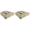 This item: Dupione Dove Rain 18-Inch x 18-Inch x 4-Inch Outdoor Wicker Chair Cushions- Set of Two