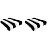 This item: Cabana Stripe Black Outdoor Chair Cushion, Set of Two