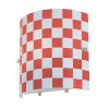 This item: Checker Red One-Light Sconce