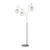 This item: Kaira Black Three-Light Arc Floor Lamp