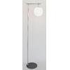 This item: Lencho Brushed Nickel Frost Glass One-Light Floor Lamp