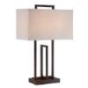This item: Farren Dark Bronze Fluorescent Two-Light Table Lamp
