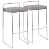 This item: Fuji Brushed Stainless Steel and Gray 34-Inch Bar Stool, Set of 2