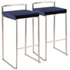 This item: Fuji Stainless Steel and Blue 34-Inch Bar Stool, Set of 2
