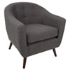 This item: Rockwell Gray Arm Accent Chair