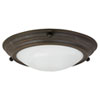 This item: Duomo Oil-rubbed Bronze Small Flush Mount with White Swirl Glass