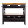 This item: Antique Black and Light Mahogany Cassidy Kitchen Island and Black
