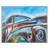 This item: Multicolor Hand Made Acrylic Painting Horizontal Jeds Lorry Decorative Art, 50 W x 2 D x 40 H