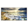 This item: Blue White and Yellow 60-Inch Tidal Motion Landscape