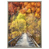 This item: Orange Green and Brown 30-Inch Woodlands Landscape