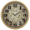 This item: Copper off-White and Black 18-Inch Round Gear Clock