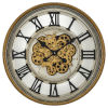 This item: Gold Silver and Black 24-Inch Gold Gear Clock