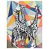 This item: Contemporary View of Giraffes Canvas