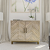 This item: Ashdla Natural Accent Cabinet