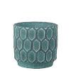 This item: Antique Blue 7-Inch Cement Round Pot