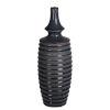 This item: Gray and Blue Ceramic Vase