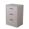 This item: Light Gray Three Drawer Accent Stand
