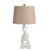 This item: White and Cream Ceramic Seahorse Table Lamp