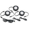 This item: MVP Black 250-Lumens LED Undercabinet Three Puck Light Kit