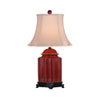 This item: Red One-Light Scalloped Jar Table Lamp