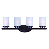This item: Corona Oil Rubbed Bronze 26-Inch Four-Light Bath Vanity
