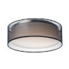 This item: Prime Black 16-Inch Three-Light LED Flush Mount