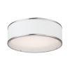 This item: Prime Satin Nickel 16-Inch Three-Light LED Flush Mount