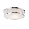 This item: Rogue Satin Nickel Three-Light Flush Mount