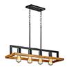 This item: Black Forest Black and Ashbury Four-Light Adjustable Mini Pendant