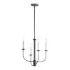 This item: Wesley Black and Satin Nickel Four-Light Chandelier
