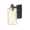 This item: Norfolk Black and Burnished Brass One-Light Outdoor Wall Mount