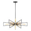 This item: Wings Black and Satin Brass Six-Light Chandelier
