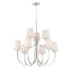 This item: Shelter Satin Nickel Nine-Light LED Chandelier