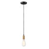 This item: Early Electric Black and Antique Brass Five-Inch One-Light Mini Pendant