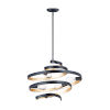 This item: Twister Black and Gold 25-Inch Five-Light Pendant