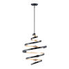 This item: Twister Black and Gold 18-Inch Five-Light Pendant