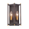 This item: Wellington Oil Rubbed Bronze and Antique Brass Seven-Inch Two-light Wall Sconce